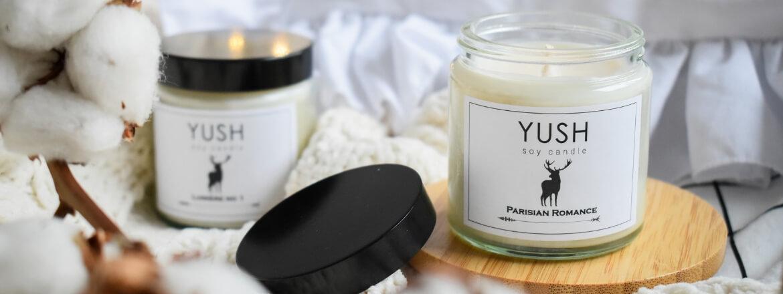 Naturalne świece zapachowe - świece sojowe Yush