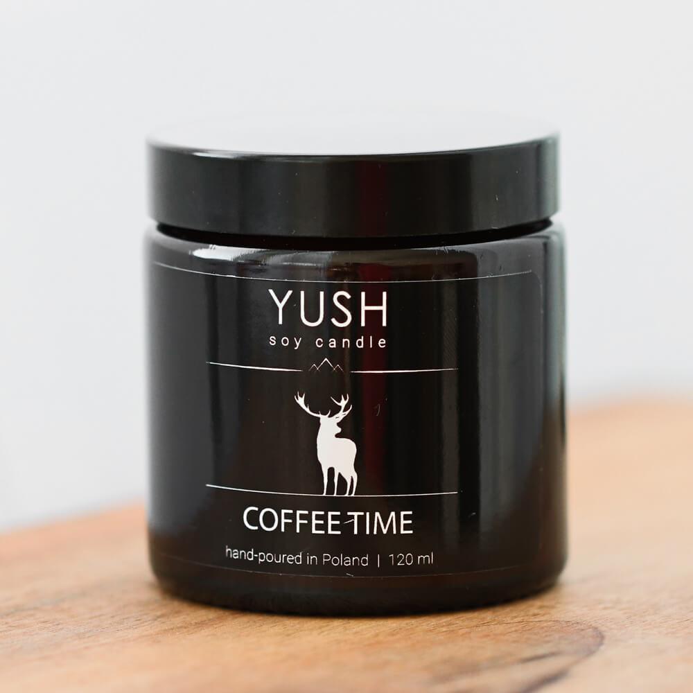 YUSH swieca sojowa COFFEE TIME 120 ml