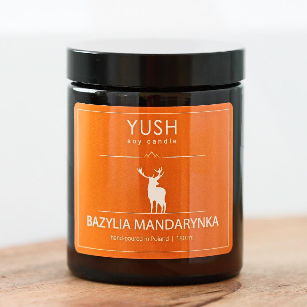 Świeca sojowa mandarynka i bazylia - świece sojowe Yush