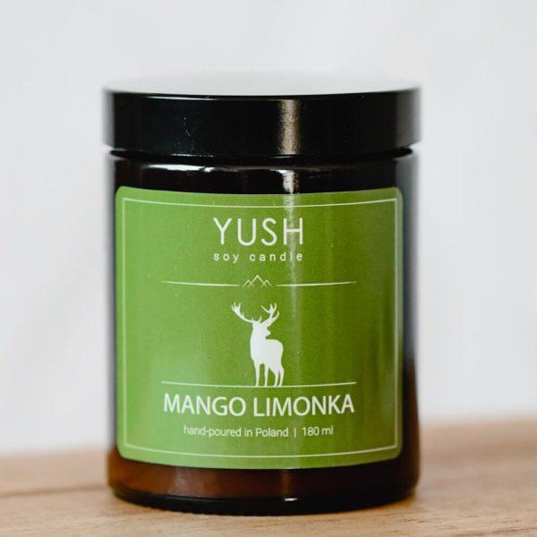 Świeca sojowa mango limonka - świece sojowe Yush