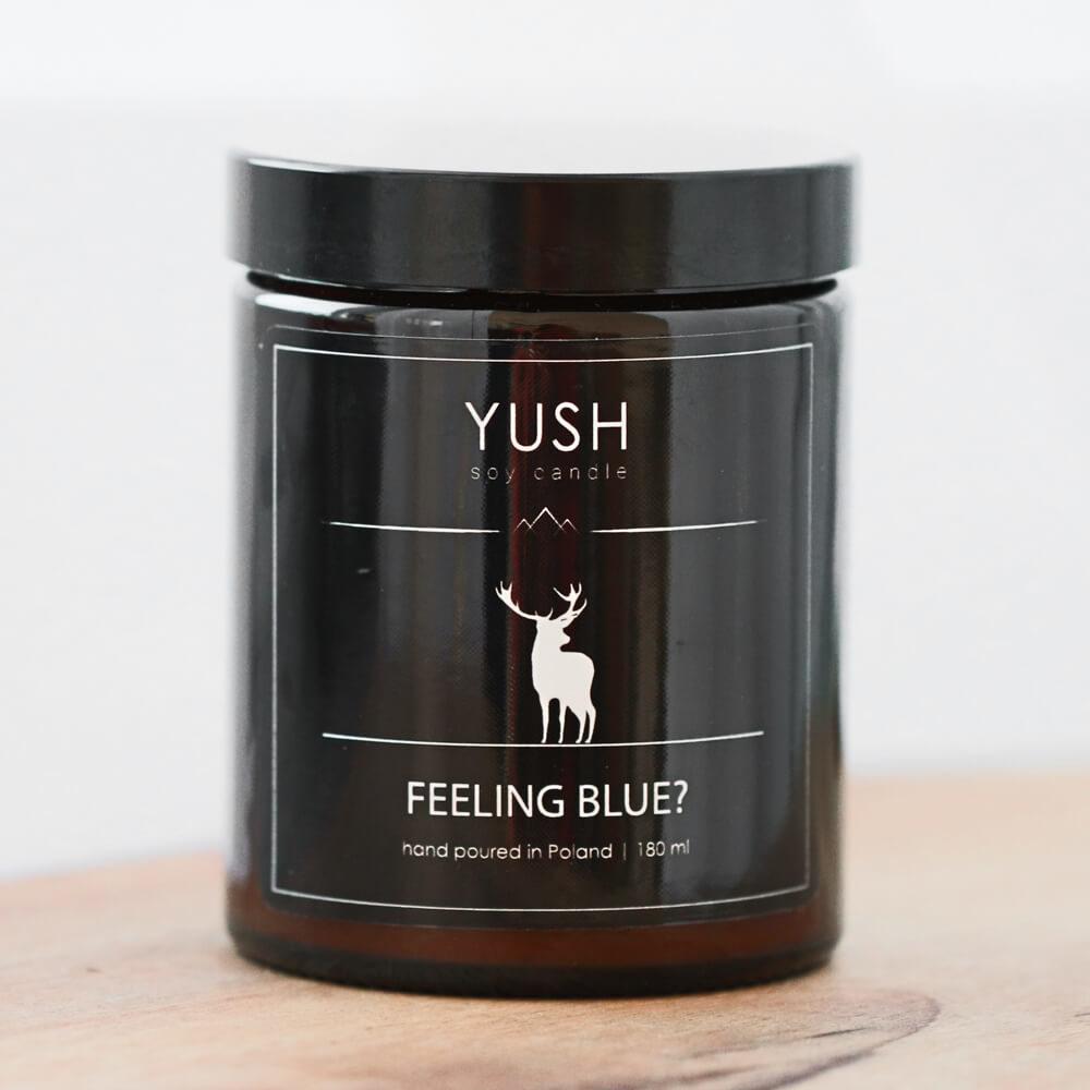 Feeling blue? duża - Świeca Sojowa