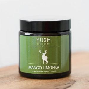 Świeca sojowa Mango i limonka 120ml - świece sojowe Yush